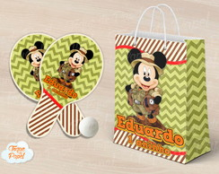 Kit Raquete personalizada safari do mickey