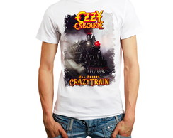 Camiseta Banda Rock Camisa T-shirt Black Sabbath Ozzy homem