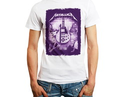 Camiseta Metallica Banda Rock T-shirt Camisa Guitarra