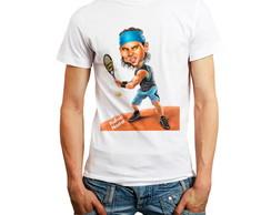 ... Camiseta Rafael Nadal Camisa Tennis Esporte T-shirt Barato 5c5e2f407546f