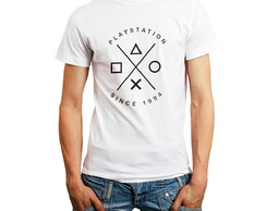 Camiseta Playstation PS1 PS2 PS3 PS4 Camisa Roupa Games