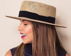51bc90c80118a ... Chapéu de Palha Rústico em JUTA com laço chanel