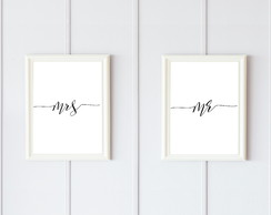 Quadro Digital - Mr. & Mrs.