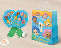 Kit Raquete personalizada Bubble Guppies