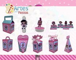 Kit: 110 Lembrancinhas Personalizadas Lol Surprise