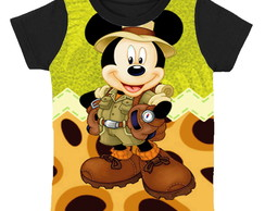 camiseta Mickey safari infantil