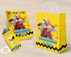 Kit colorir giz sacola Snoopy