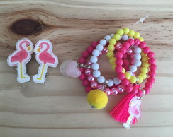 Mix Pulseiras Flamingo By Vic