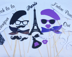 Placas Divertidas Paris Roxo