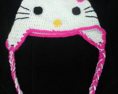 touca croche hello kitty infantil