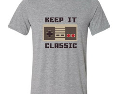 Camiseta Keep It Classic Video Game Clássico Nintendo