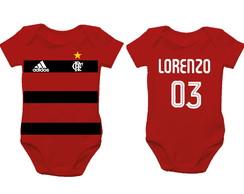 3d51c291bc ... Body de bebê - Flamengo - com personalização do nome