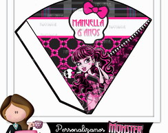 Cone para guloseimas monster high