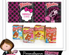 Rótulo para toddynho monster high