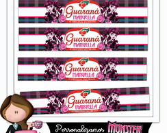 Rótulo para guaraná monster high