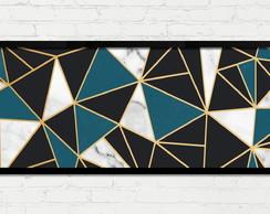 9c3cbcdc8 Quadro Horizontal Abstrato Geométrico Azul Dourado Preto A no Elo7 ...