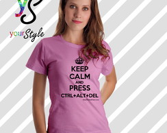 Camiseta Keep Calm and ctrl + alt + del