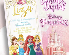 Convite Digital/Virtual - Princesas Disney