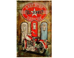 Placa Decorativa Quadro Retro Vintage Moto - 30x45cm