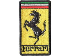 Patch Bordado - Logo Marca Ferrari DV80192
