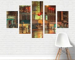 Quadro Canvas -Chinatown New York Nova Iorque noite CD04C5P