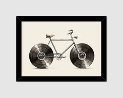 Quadro decorativo Cool Bicicleta de Vinil