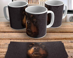 Caneca Dog Big Face Rottweiler