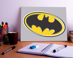 Placa Decorativa Personalizada Batman Logo