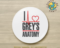 Botton Alfinete Série Grey's Anatomy
