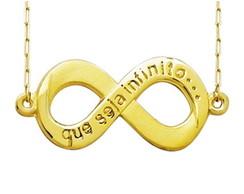 ... Gargantilha infinito ouro amarelo 18k 1 2506289d678f4