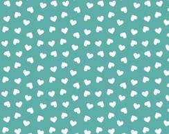 ... Tecido Corações Tiffany e Branco Meio Metro be7688a3fa4
