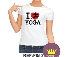 Camiseta Babylook I Love Yoga 02