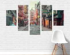 Quadro Canvas - Rua Chinatown New York Nova Iorque CD17C5P