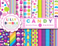 Kit Digital Papéis Candy