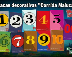 Placas decorativas Corrida Maluca
