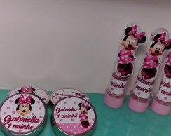 30 latinhas , 30 tubetes MINNIE ROSA