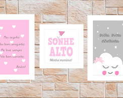 Quarto Infantil - 3 placas decorativas