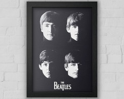 Quadro Decorativo The Beatle s com moldura e vidro