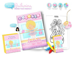 Arte Digital Kit Colorir Bailarina
