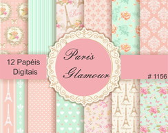 #1156 - Kit Papel Digital Paris Glamour