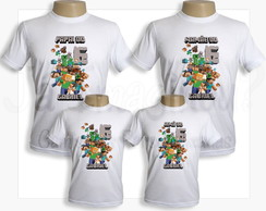 Camiseta Minecraft - Kit com 4 camisetas