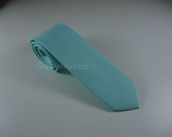 Gravata Azul Tiffany Slim