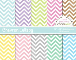 Kit digital Chevron candy