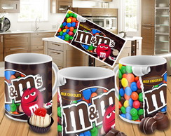 Caneca Porcelana Personalizada Pascoa Chocolate Milk M&m's