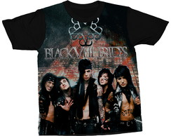 Camiseta Black Veil Brides Glam Metal Blusa Camisa Estampada