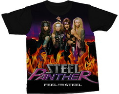 Camiseta Steel Panther Glam Metal Blusa Camisa Estampada