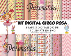 KIT DIGITAL CIRCO ROSA