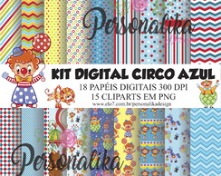 KIT DIGITAL CIRCO AZUL