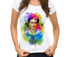 Camiseta Baby Look Frida Kahlo