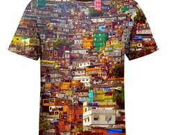 Camiseta masculina Favela Estampa Digital md01